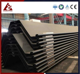 Permanenteng Quay Wall Z Type Steel Sheet Piling